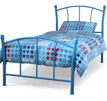 Penny Single Bedframe (3Ft) - Blue